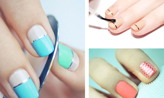 Nail art look: How to apply striping tape