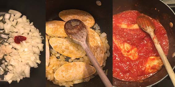 making the tomayto sauce